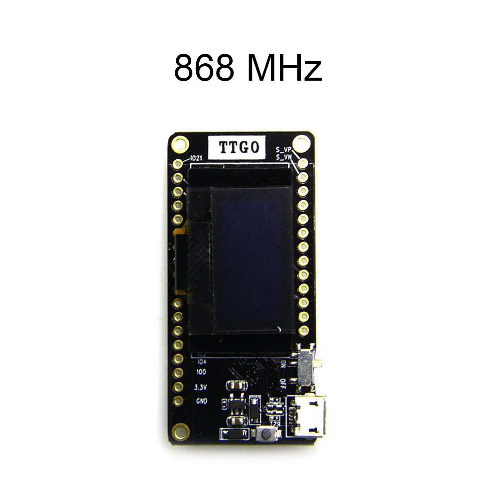 US $20 78 11% OFF|TTGO LORA32 V2 0 433/868/915Mhz ESP32 LoRa OLED 0 96 Inch  SD Card Display Bluetooth WIFI ESP32 ESP 32 Module With Antenna-in