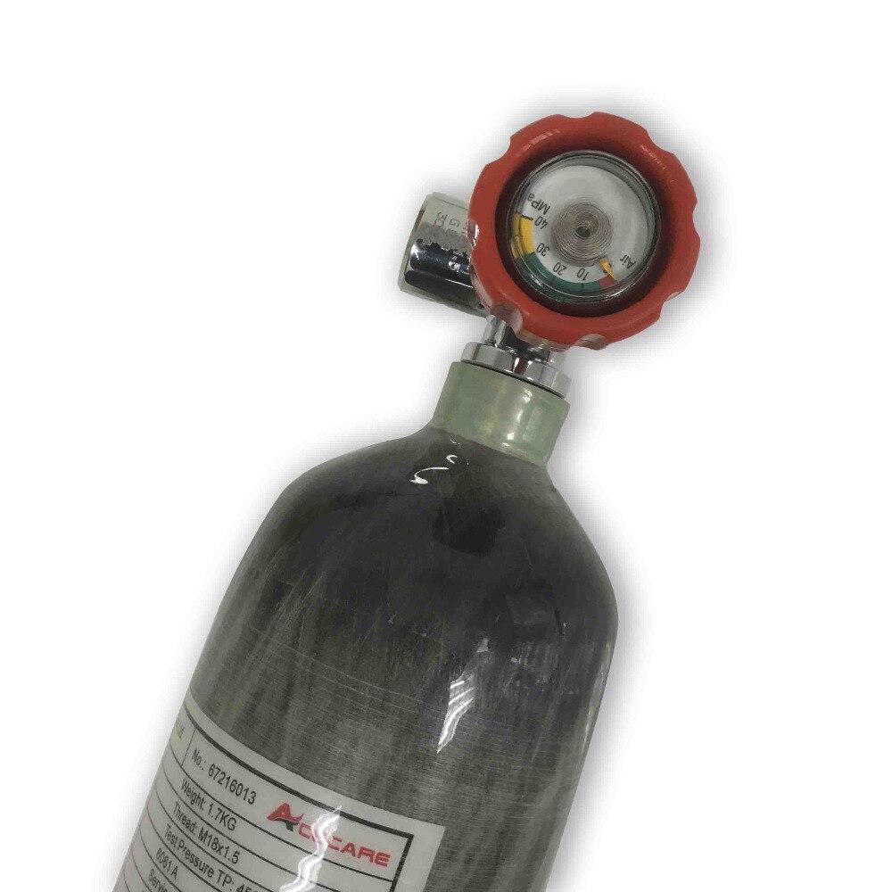 Acecare AC121711 2.17L Pressão de Ar Do Cilindro De Gás De Fibra De Carbono/300Bar para SCBA composto De Enchimento/Caça Rifle de Ar Com válvula Pcp