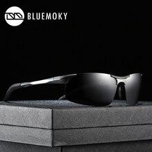BLUEMOKY الرياضة حملق نظارات شمسية للرجال الاستقطاب UV400 النظارات الشمسية الذكور الألومنيوم المغنيسيوم القيادة بولارويد ظلال للرجال