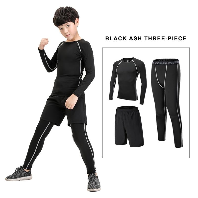 0b24f092dce7 Gyerek öltöny fitness ruházat kompresszió alap réteg sport nadrág ...
