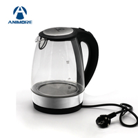 ANIMORE 2L Glass Electric Kettle Off Automatically Stainless Steel Anti Hot Electric Kettle Household Kitchen Appliances