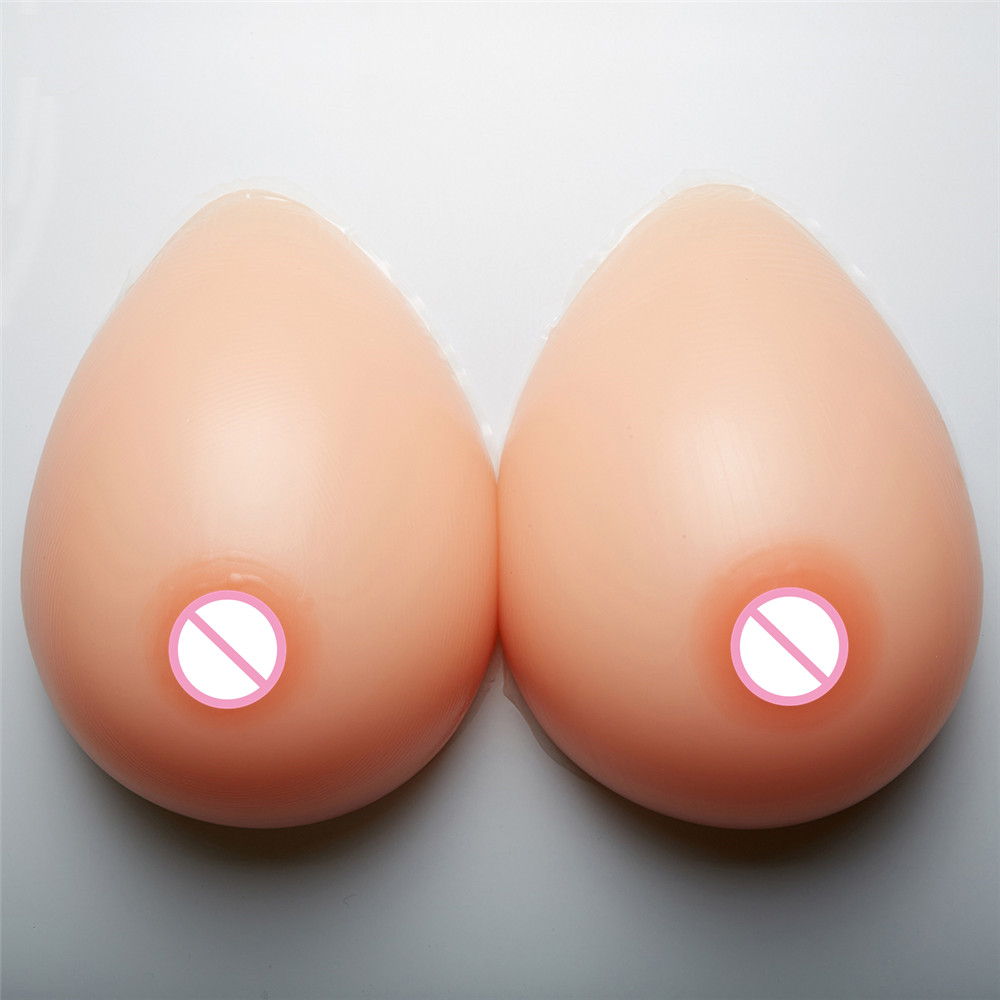 Buy 1600g/pair Artificial Fake Breast 40DD/42D/36F Silicone Boobs Forms Enhancer Crossdresser Transgender Shemale Drag Queen
