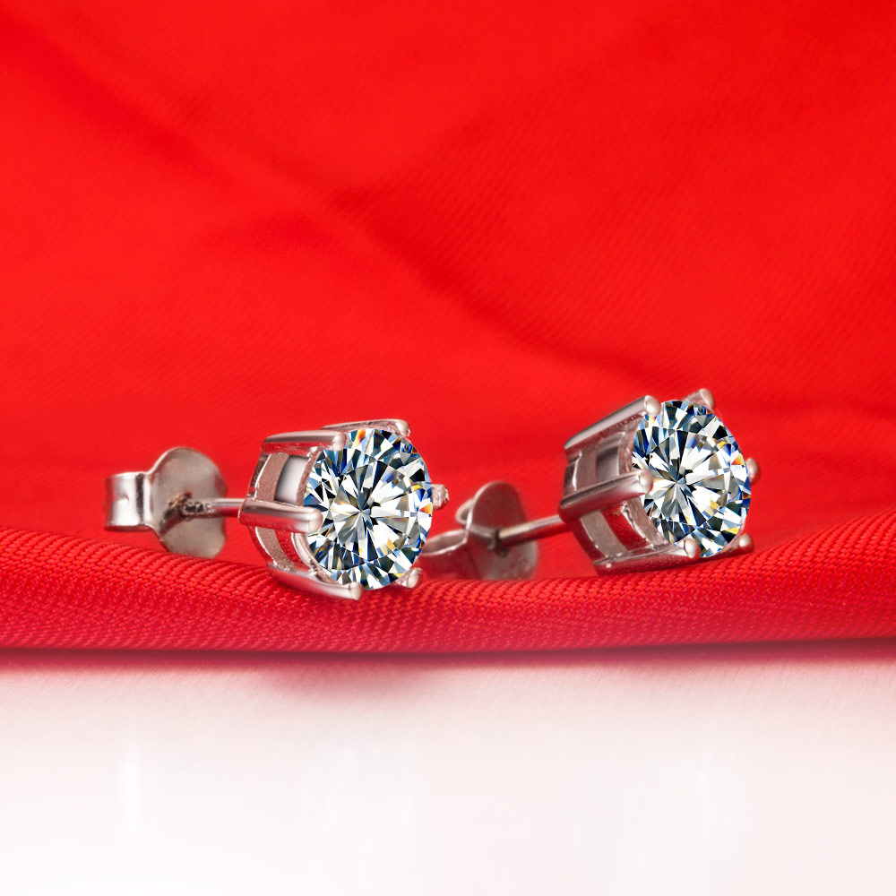 excellent excelent stud design vs wedding blue item for gold flash jewelry white in real sapphire luxury from earrings cut beautiful