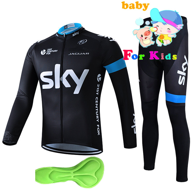 2018 new sky Boys Pro Long Sleeve cycling clothing sets bike cycling jersey set roupa ciclismo Pro breathable Cycling Jersey Set top quality 2017 sky cycling jersey set long sleeve jacket tight cycling clothing wear breathable ropa ciclismo bike jerseys