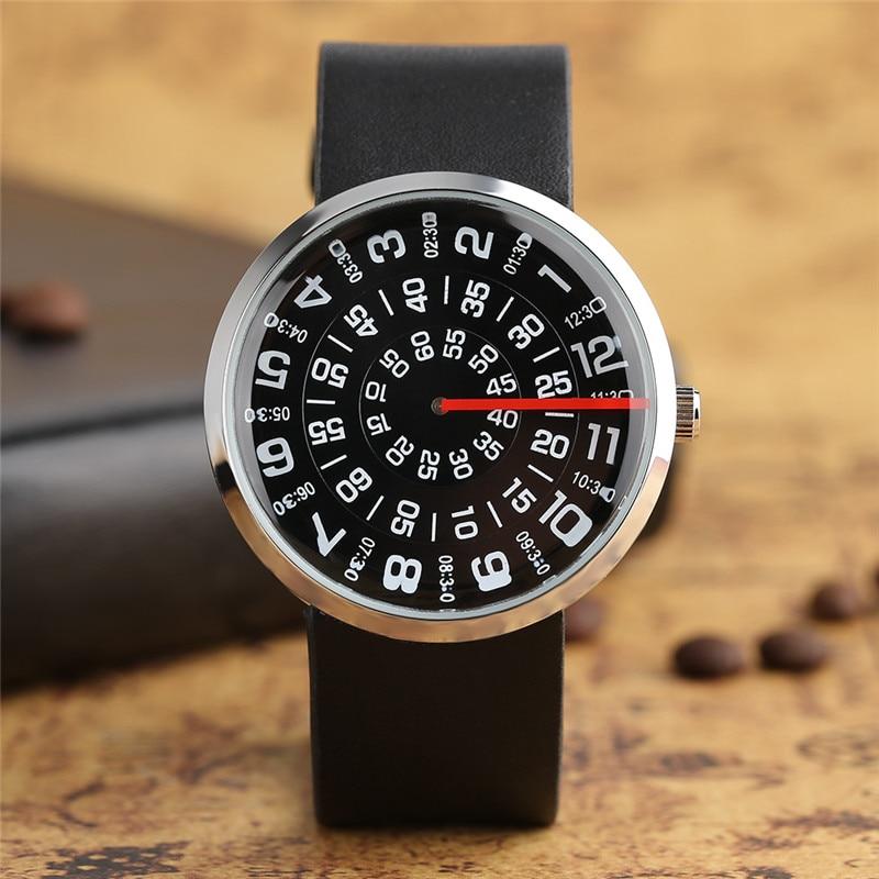 Quartz Wristwatch Clock Turntable Dial PAIDU Cool Creative Unique Unisex Fashion Rotation