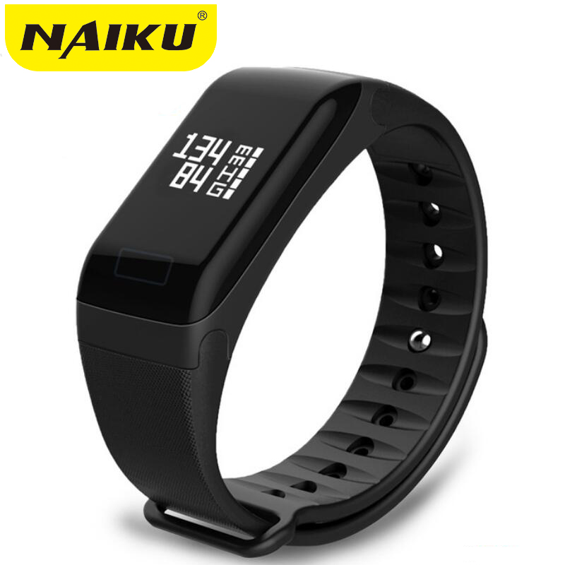 NAIKU Fitness Tracker F1 Sleep Tracker Smart Bracelet Heart Rate Monitor Waterproof Smart Band Activity Tracker for iPhone-in Smart Wristbands from Consumer Electronics