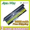 Apexway 6600 mah 9 de celda de batería para lenovo thinkpad x200 x200s x200si x201 x201i 42t4650 43r9253 43r9254 42t4537 42t4542 42t4543