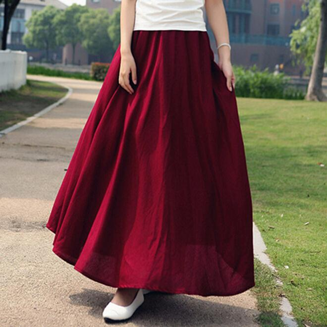 Compare Prices on Linen Long Skirt- Online Shopping/Buy Low Price ...