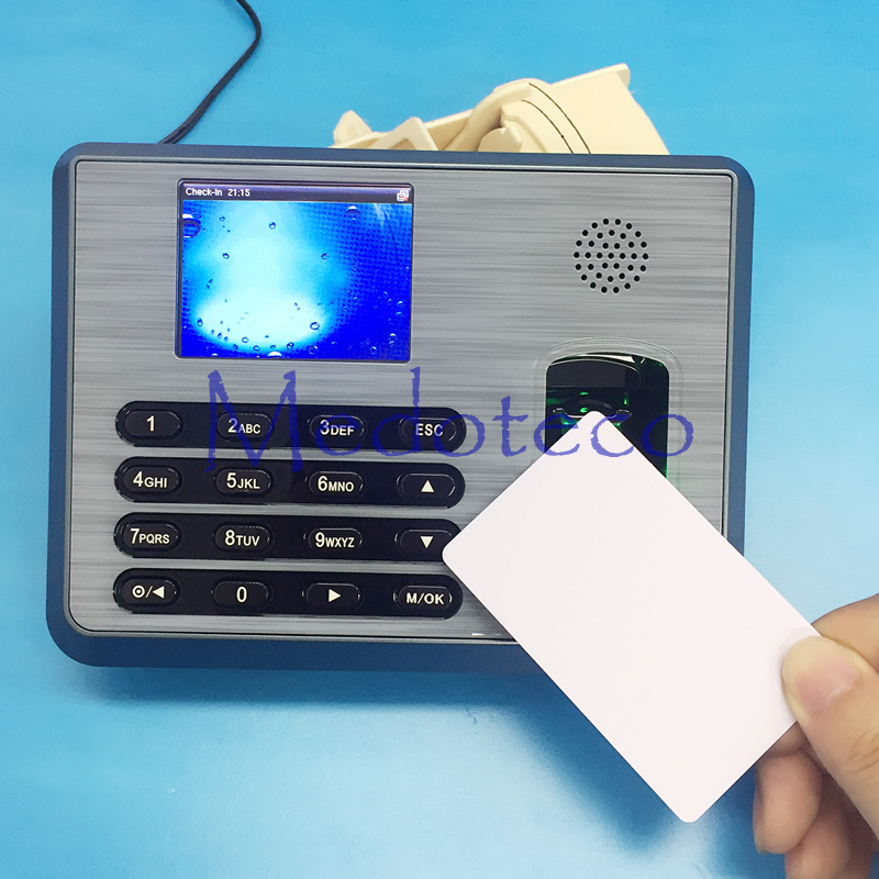 TX628 TCP/IP Biometric Fingerprint Time Attendance + 13.56mhz IC Reader Employee Electronic Attendance With Fingerprint Reader