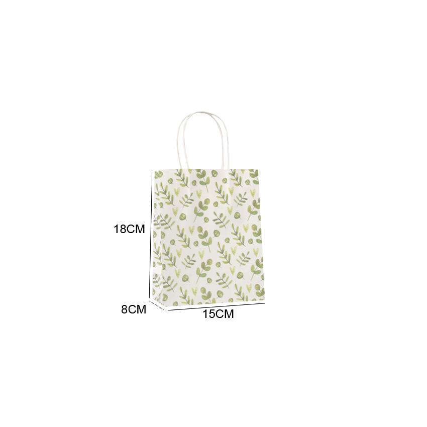 Image 5 - 50 Pcs/lot Sweet Flower printed  kraft paper bag Festival gift  bags Paper bags with handles children gift bags 18x15x8cmGift Bags