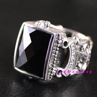 Тайландский импорт, атмосферное короли Сердце Кольцо Драгоценное мужское серебряное кольцо раздел