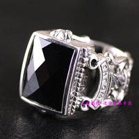 Thailand imports, atmospheric Crowley heart ring gem men silver ring section