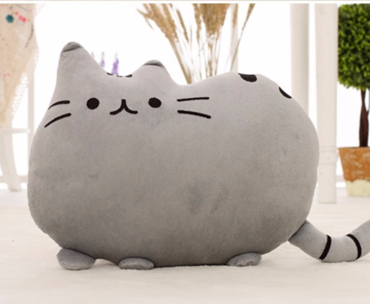 Cat Pillow With Zipper Only Skin Without PP Cotton Biscuits Plush Animal Doll Toys 1