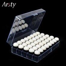 40 unids/lote de espuma para dedos de alta calidad con caja de plástico para dibujar esponja para dedos con tinta de tiza