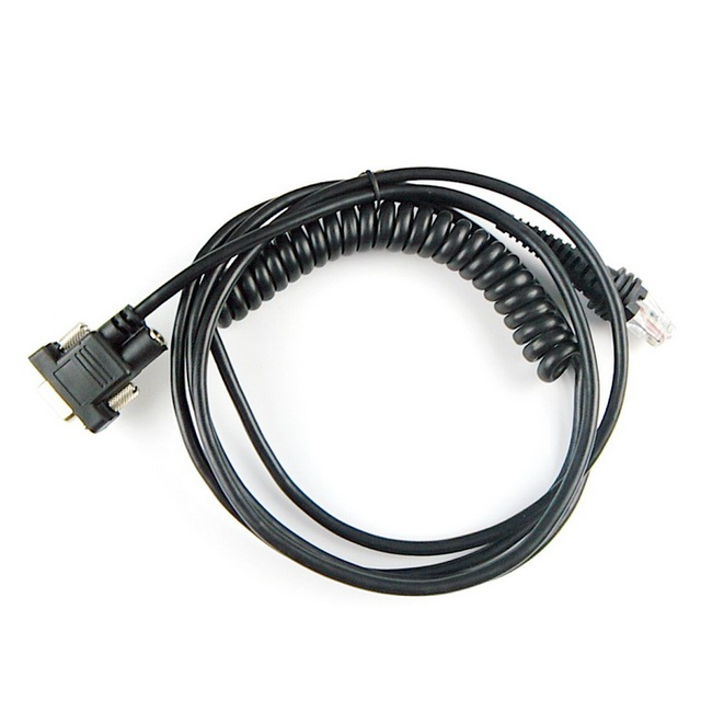 2-pack barcode scanner rs232 spiral cable,3m(10feet),for honeywell