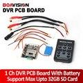 1CH Mini HD DVR XBOX Pcb Hasta 30fps D1 Apoyo 32 GB Tarjeta SD de Seguridad Grabador de Vídeo Digital Para Los Aviones Modelo Con batería