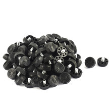 Furniture Table Chair 8 Holes Base Adjustable Leveling Foot Black M8 X 10Mm Male Thread 100Pcs
