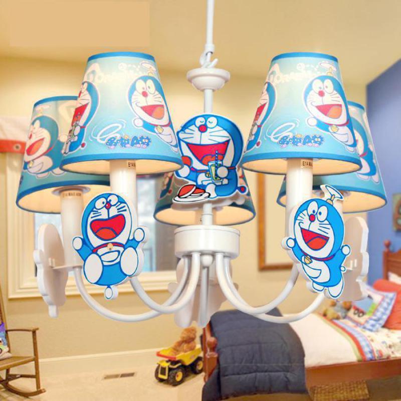 Regron Doraemon Suspension lumière Cartoon Led bleu Suspension lampe populaire drôle Suspension lanterne pour enfants chambre salle de jeux