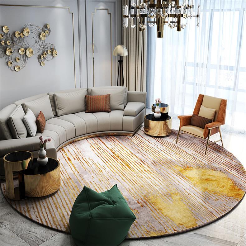 Скандинавские ковры для гостиной, домашний декоративный круглый ковер для спальни, дивана, журнального столика, круглый ковер, современный коврик для Кабинета - Цвет: 342205