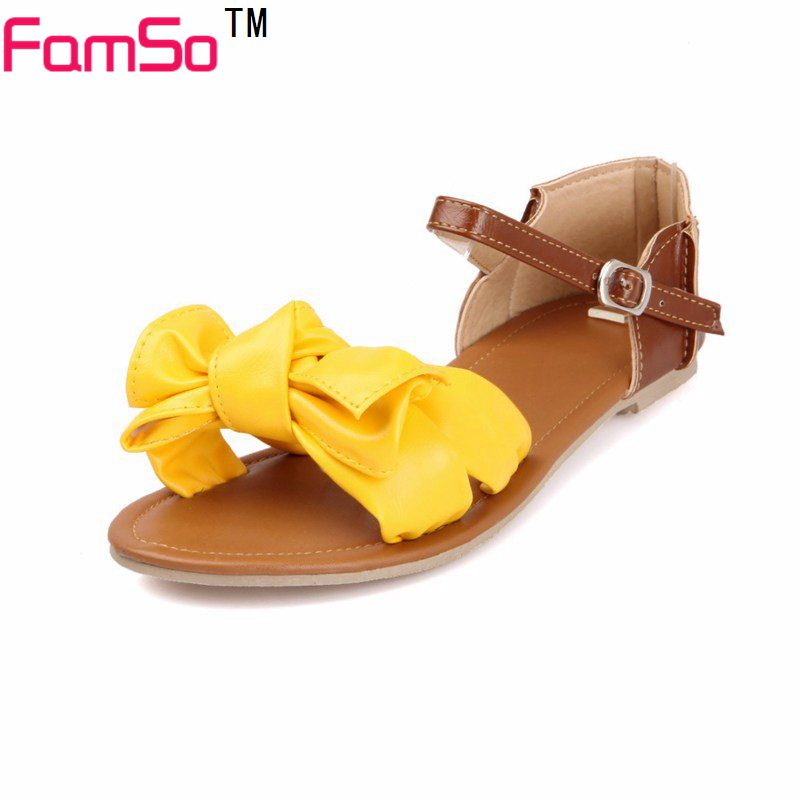 Plus Size34-45  2017 New Women Sandals  Summer Flats Sandals Flip Flops Patchwork  Slides Designer Lady Platforms Sandals  FS162