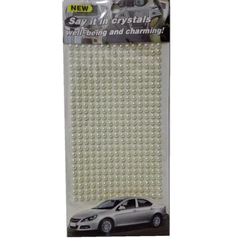 Buy car decor white imitation pearls 3mm - Decoration murale auto adhesive ...