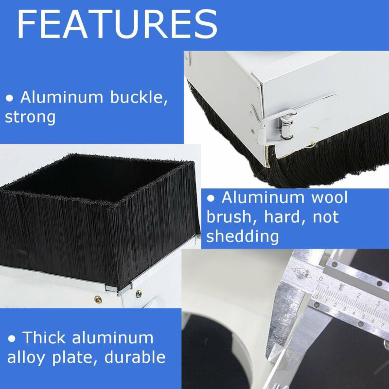 Shoe Dust Cover Cleaner CNC Metalworking Engraving Milling Machine Aluminum alloy Replacement Accessory Tool 1pc