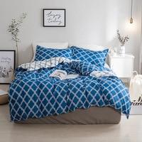 Geometric Bedding Set Duvet Cover Blue Bed Set Bedclothes Sheet Star Printed Quilt Cover Bedroom Home Textile