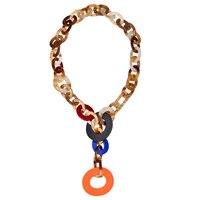Cường điệu Đầy Màu Sắc Dài Rope Chain Vòng Cổ Trang Sức Sỉ Cho Phụ Nữ 2017 Nhựa Tuyên Bố Mặt Dây Vòng Cổ Ladies mujer joia
