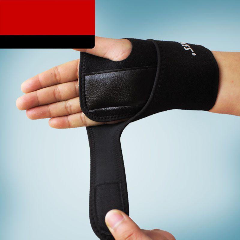 One Piece Brand Detachable Steel Splint Wrist Sprain Support Sports Brace Protector With Steel Plate