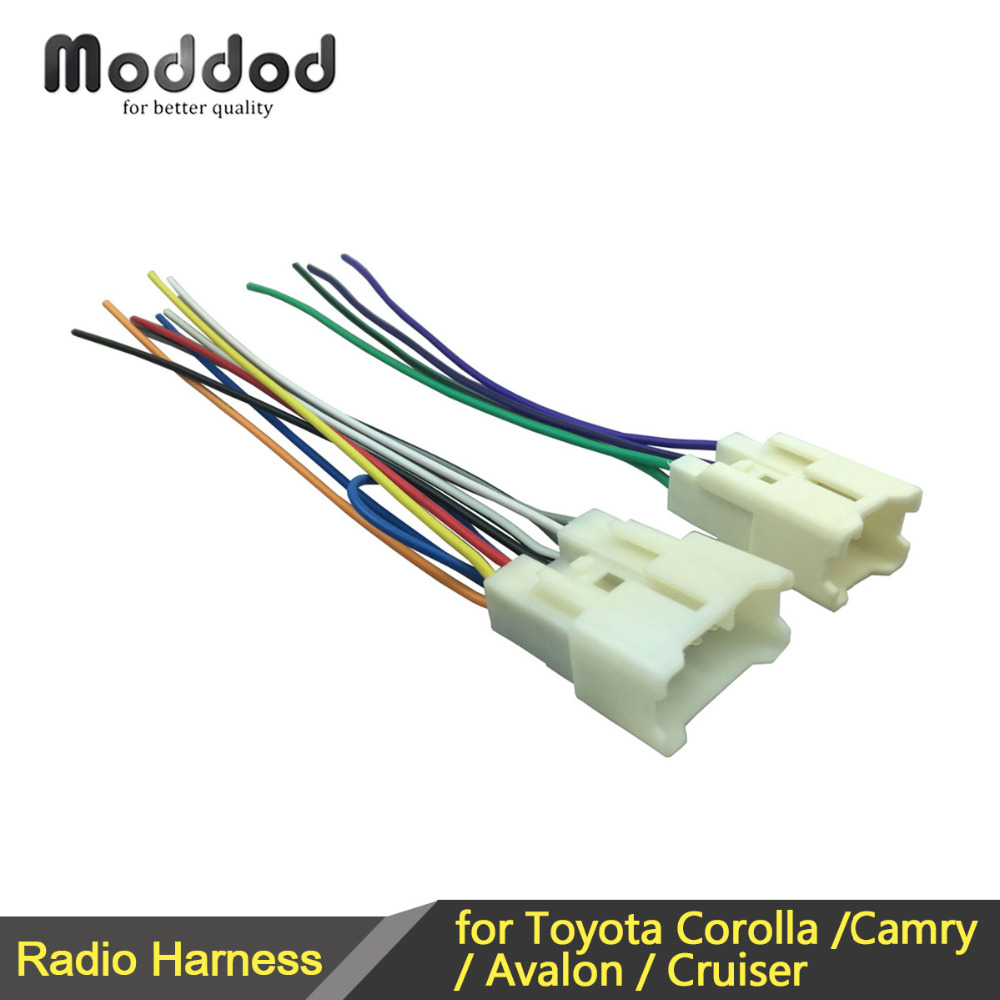 Universal Stereo CD Player Wiring Harness For TOYOTA Wire Adapter ...