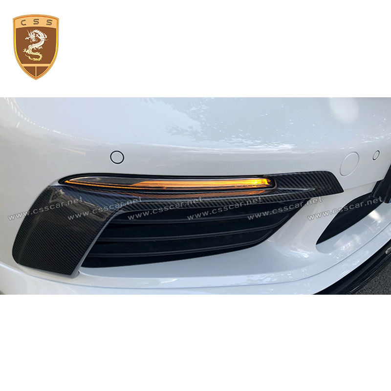 For Porsche 718 Boxter Headlight Lamp Eyebrow Decorative Cover High Quality Carbon Fiber Material Headlight Covers