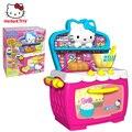 Genuinas chicas play kitchen toys simulación de juguete caja de regalo horno 1680445 cocina play set juguetes de plástico para las niñas mejor regalo