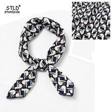 Women Scarf Fashion Neckerchief Air Hostess for women Small Square Satin Silk scarf femme Head Band Professional Neck Tie