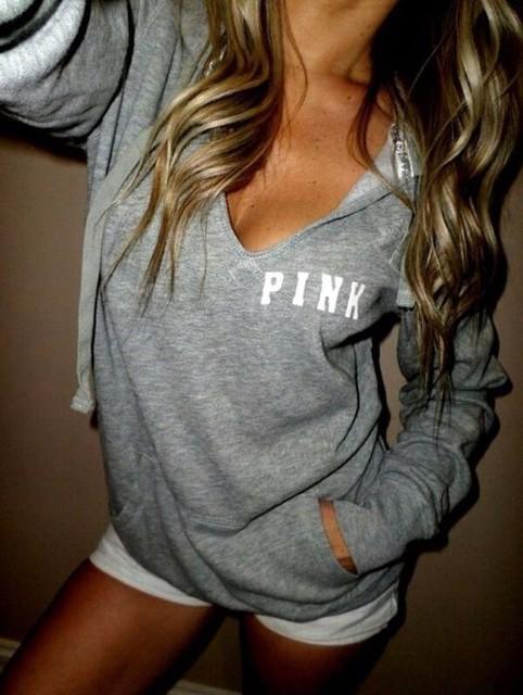 2017 América Do Recurso mulheres hoodies moda feminina pulôver ROSA letra impressa longo-sleeved camisola Amor Rosa Plus Size