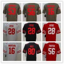 2b7a0eb096c Men s Joe Montana Reuben Foster Jerry Rice Carlos Hyde NaVorro Bowman  Custom 49ers Salute to Service Vapor Untouchable jersey