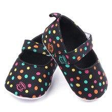 Весна и Осень Красивые Красочные Горошек Shallow Prewalker Девочка Повседневная Обувь Для 0-15 М