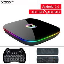 Xgody Android 9.0 Smart Tv Box H6 Quadcore 4 Gb 32 Gb/64 Gb 1080P 6K Hd home Media Player Box 2.4G Wifi Set Top Box Voor Nieuwe Oude Tv