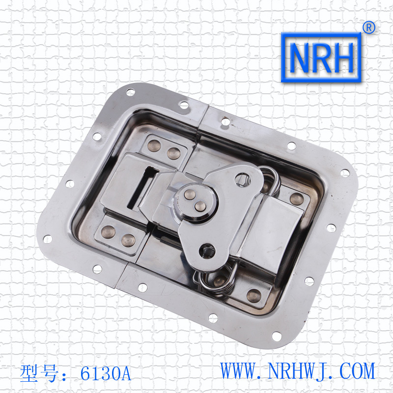 NRH 6130A cold rolled steel musical cabinet butterfly latch Seismic Audio chrome plating recessed butterfly lock for road case nrh 5619a 230 cold rolled steel latch clamp wholesale price high quality horizontal pull toggle clamp zinc plating
