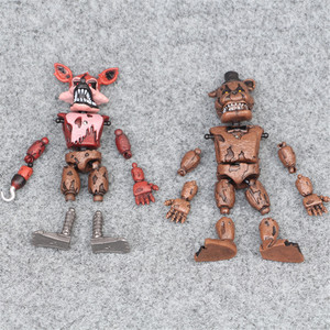 Image 5 - 6pcs/set At Freddys Five Nights PVC Action figure 17cm Bonnie Foxy Freddy toys 5 Fazbear Bear Doll baby toys for Christmas gift