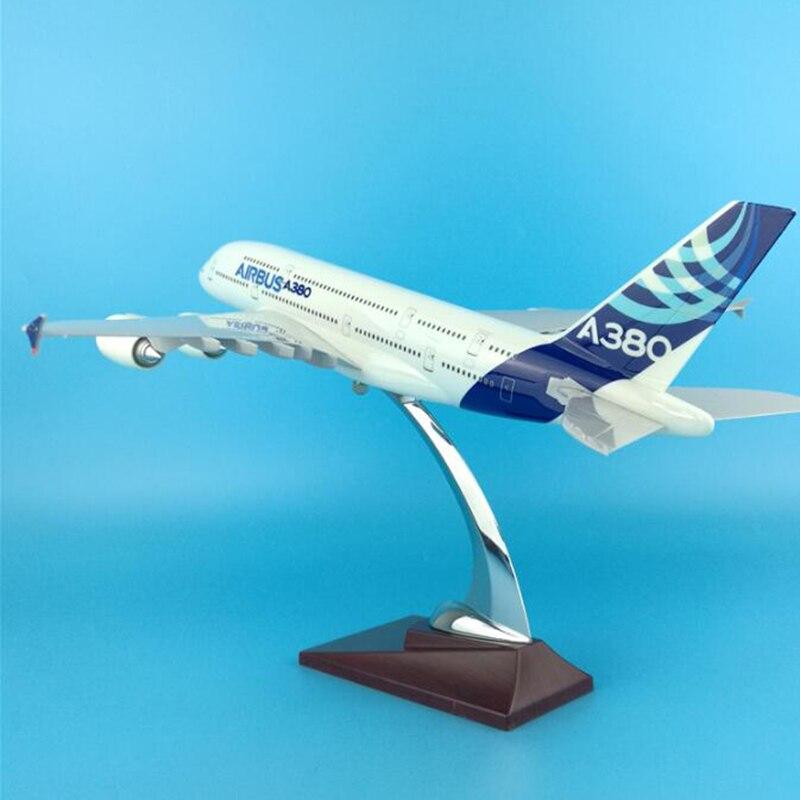 النادرة 35 سنتيمتر نموذج طائرة لعب ايرلندا ايرباص A380 نموذج طائرة دييكاست البلاستيك الطائرة سبيكة الهدايا للأطفال-في سيارات لعبة ومجسمات معدنية من الألعاب والهوايات على  مجموعة 2