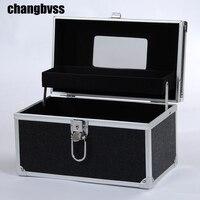 Classic Black Cosmetic Makeup Storage Box Large Capacity Travel Organizer Bag Cosmetic Make up Organizer organizador Container