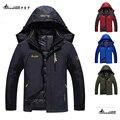 2017 Nuevo Más El tamaño L-6XL hombres chaqueta de invierno 8 colores Abajo chaqueta de terciopelo viento cálido abrigo de invierno con capucha parka negro hombres