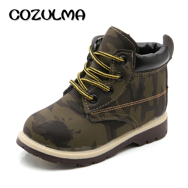 ec3a41bafee3d COZULMA Children Work Boots Kids Boys Camouflage Ankle Boots Girls Sneakers  Shoes Boys Tooling Boots Boys Casual Shoes