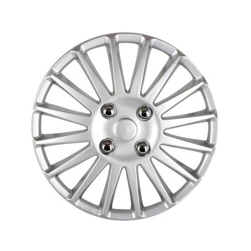 Auto 13 Car Wheel Trims Hub Caps Plastic Covers Universal Matte Silver