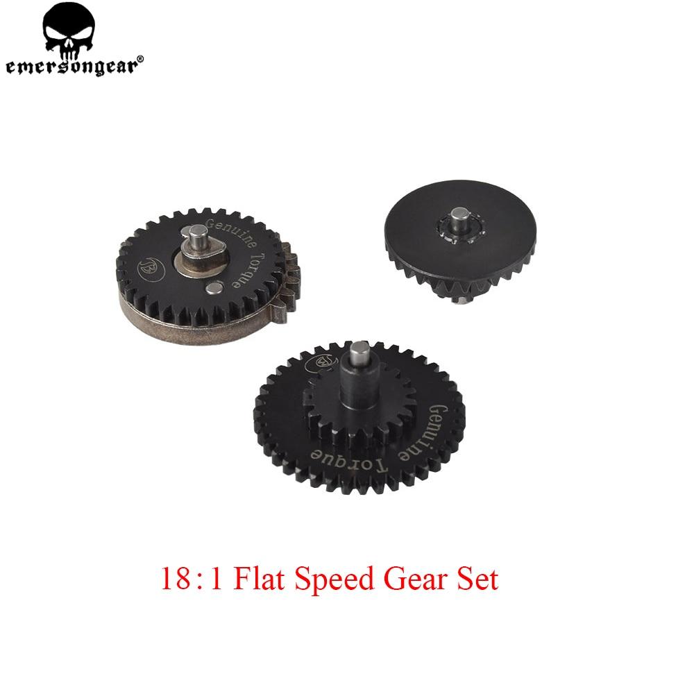 EMERSONGEAR CNC 18:1 Flat Speed Gear for Ver.2/ 3 AEG Gearbox Set Airsoft Gun Hunting Accessories Gear BD1210