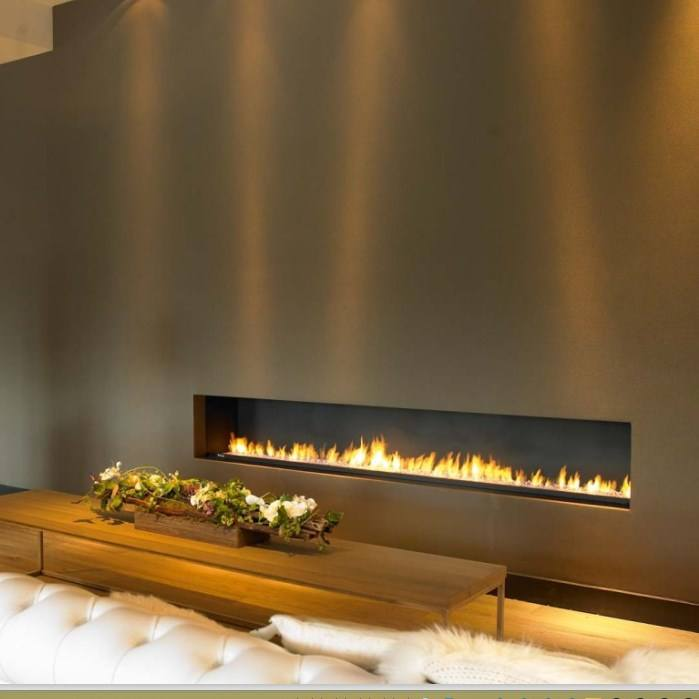 On Sale 24 Inch Fireplace Ethanol With Wifi Control Cheminee Etanol