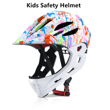купить Detachable Cycling Bike Helmet Full Covered Child Helmet EPS Parallel Car Children Helmet 2 In 1 Sport Safety Riding Helmet недорого