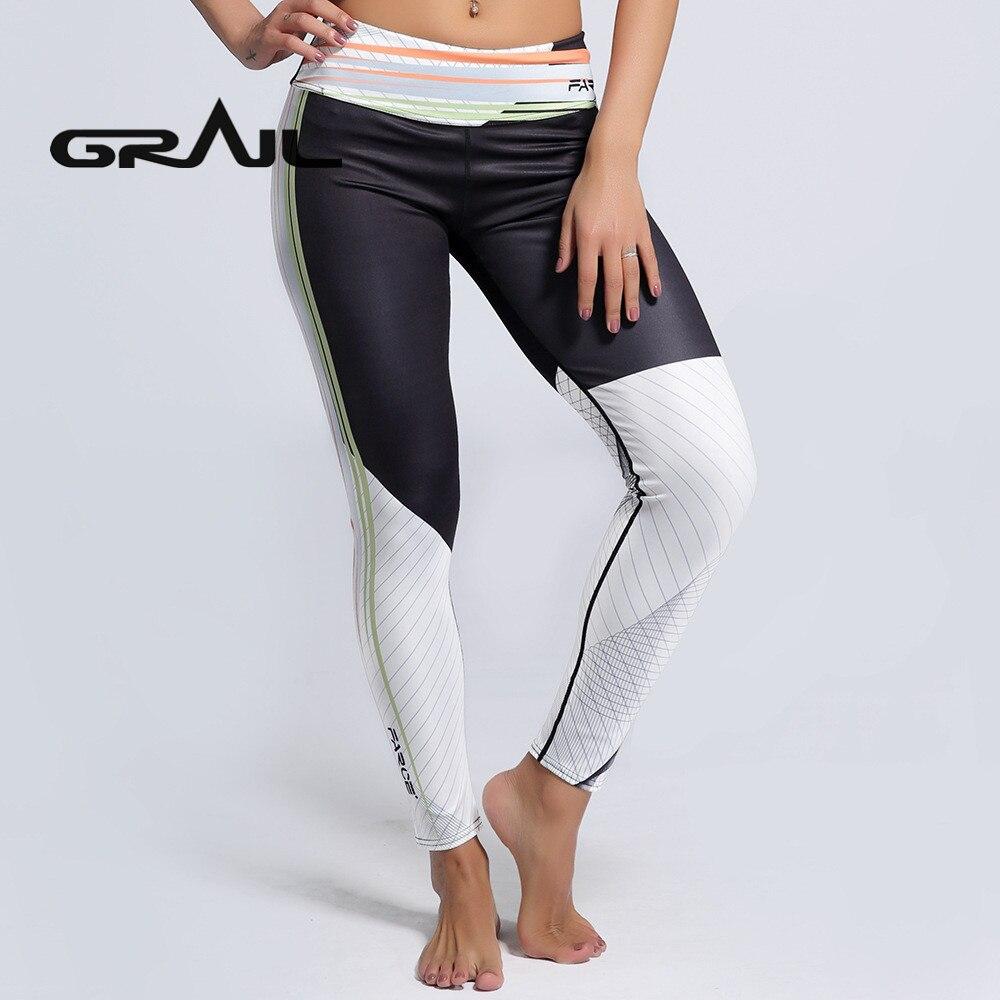 88ece189ea561e GRAIL Spring Simple Black White Yoga Pants Slim Fit Leggings Gym Fitness  Yoga Leggins Geometry Full Length Trousers YOGA-0168