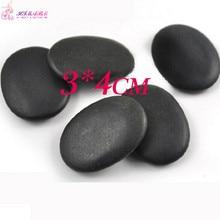20pcs Small size 3*4cm Natrual hot spa black  basalt stone Massage Lava Stone pain relief Rocks недорго, оригинальная цена