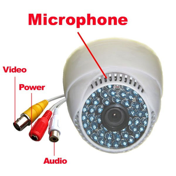 1/3 Sony CCD IR Color Security Dome Audio Camera cctv system1/3 Sony CCD IR Color Security Dome Audio Camera cctv system